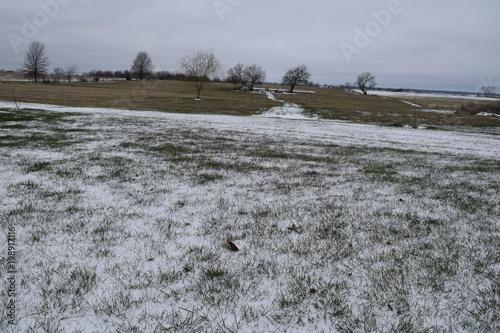 Fotobehang Donkergrijs Snow
