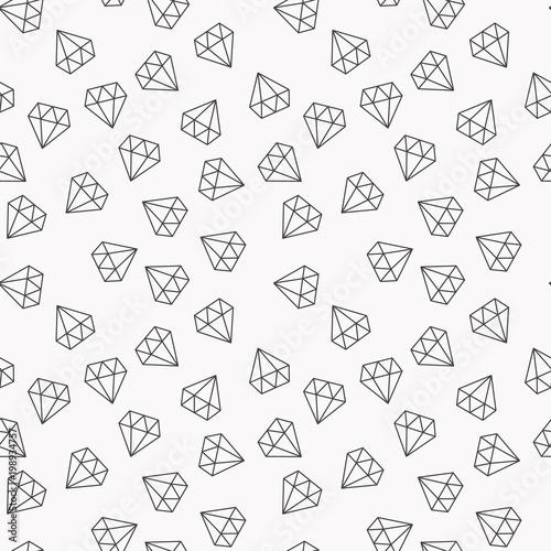 Diamenty losowy bez szwu wektor wzór lub tło
