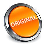 Original 3d orange round button - 198935761
