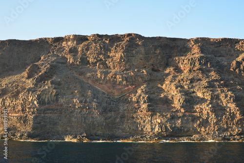 Foto op Aluminium Grijze traf. Look from the sea to the southeast coast of La Gomera