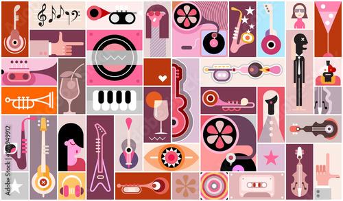 Plexiglas Abstractie Art Music Background Design