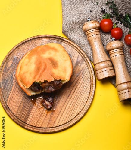 Aluminium Pizzeria Delicious food in cafe or restaurant. Traditional rustic cuisine concept.