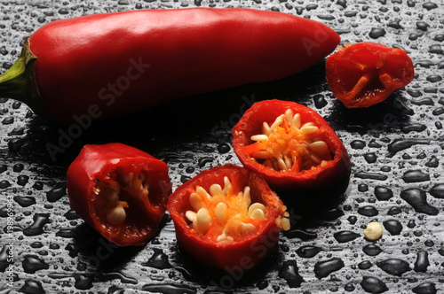 Plexiglas Hot chili peppers Capsicum トウガラシ属 고추속 فليفلة Papryka 辣椒属 Peperoncino Chili Spanskpepparsläktet Paprika Biezzu Pimientos rojos