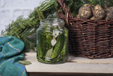 Preparation for pickling cucumbers - 198971332