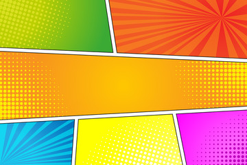 Colorful pop art retro background, comic style