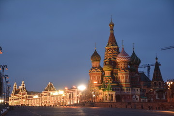 Museum  theater  Kremlin  tower Russia tours night domes  landmark  trees Park Moscow monument sculpture architecture  building city house metropolis Church statue