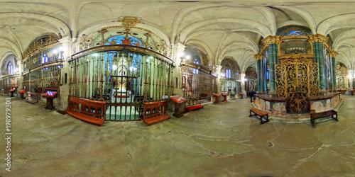 Ambulatory of the cathedral of Santa Maria of Lugo. GPanorama 360. Gallicia. Spain.