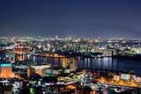 高塔山公園から望む洞海湾の夜景【福岡県北九州市】