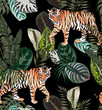 tiger dark jungle pattern