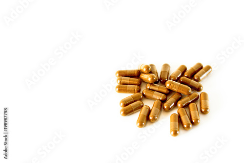 Herbal medicine, the background is white