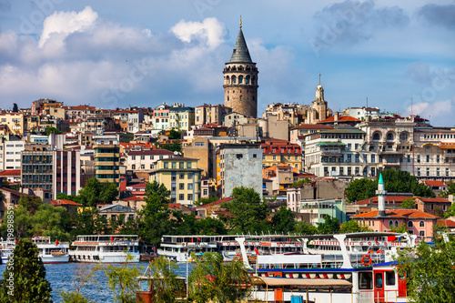 City Of Istanbul Cityscape With Galata Tower