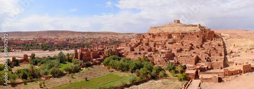 Foto op Plexiglas Marokko Panorama of Kasbah Ait Ben Haddou near Ouarzazate. Morocco