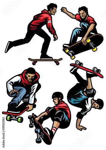 Plexiglas Skateboard skateboard player set