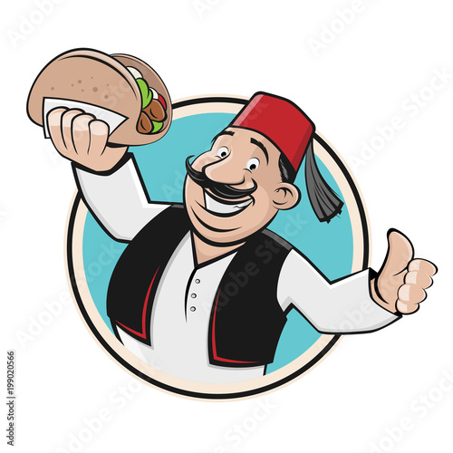 doner symbol icon restaurant logo