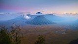 4K Timelapse of Bromo volcano at sunset, East Java, Indonesia