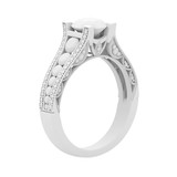 White gypsum cast material jewelry ring of 3d rendering isolate on white