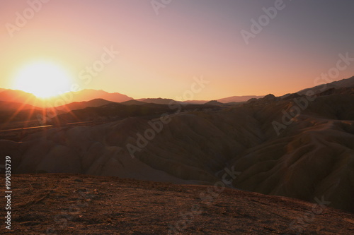 Foto op Aluminium Chocoladebruin Tal des Todes Death Valley Zabriskie Point