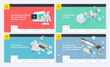Set of website template designs. Modern vector illustration concepts of web page design for website and mobile website development. Easy to edit and customize. - 199042537
