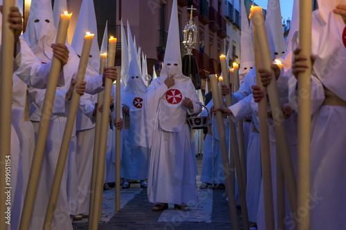 Semana santa de Sevilla, los penitentes