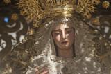 virgen de la hermandad de San Roque en la semana santa de Sevilla - 199051398