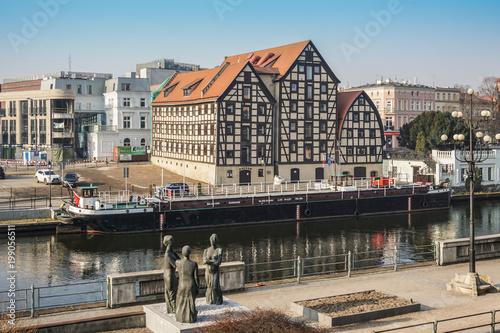 Zdjęcia na płótnie, fototapety na wymiar, obrazy na ścianę : Bydgoszcz cityscape Stary Port, Poland