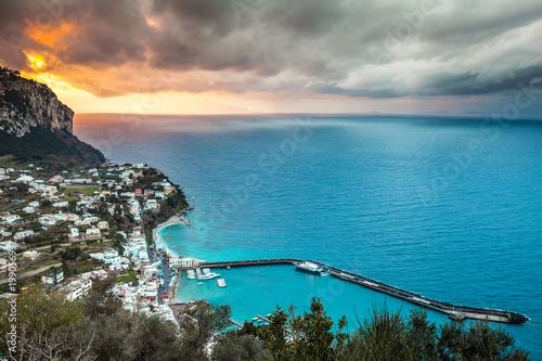 Capri spectacular sunset