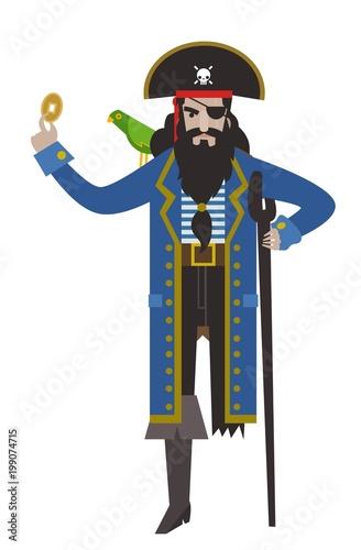 Kapitan piratów z wyspy skarbów