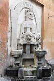 Trinkwasserbrunnen, Schriftzug SPQR, restauriert 1998 von Stefano Gasbarri, Via Margutta, Rom, Italien, Europa - 199093714