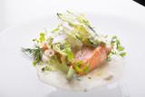 Salmon and broccoli - 199095715