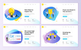 Set of website template designs. Modern vector illustration concepts of web page design for website and mobile website development. Easy to edit and customize.