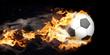 canvas print picture - Brennender Fliegender Klassischer Fußball