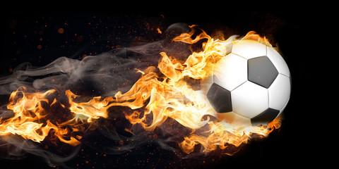 Brennender Fliegender Klassischer Fußball © Alexander Limbach