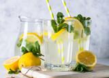 Lemonade summer cold drink. - 199118362