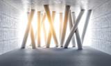 3d concrete columns