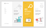 Effective website template design. Modern flat design vector illustration concept of web page design for website and mobile website development. Easy to edit and customize. - 199123100