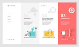 Effective website template design. Modern flat design vector illustration concept of web page design for website and mobile website development. Easy to edit and customize. - 199123188