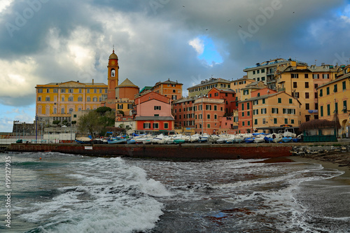 Fotobehang Liguria Porticciolo turistico di genova nervi sulla costiera ligure