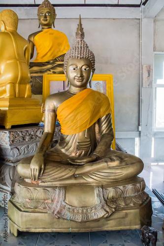 Fotobehang Boeddha Buddha, Thai art, culture in the temple