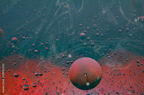 abstract background made with water, oil and colored lanterns - 199132929