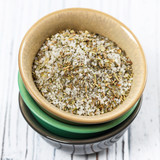 Sea Salt with Seasoning Herbs Mix and Spices. Selective focus. - 199134900