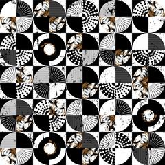 Abstract circles, seamless vector art pattern © Kirsten Hinte