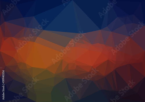 Abstract deep polygonal texture background. Geometric pattern for graphic design. Can be used as gradient or wallpaper.  - 199140356