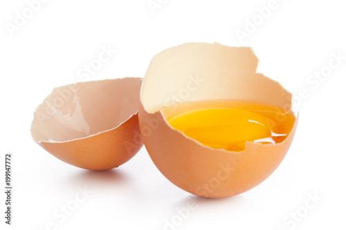 Foto Murales egg on white background