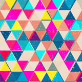 Bright color triangle seamless pattern