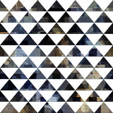 Black triangle seamless pattern