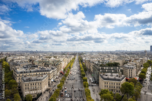 Foto op Plexiglas Parijs Beautiful scene from high