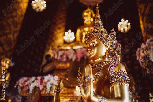 Fotobehang Boeddha Buddha statue in temple at Bangkok,Thailand