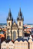 Church of Virgin Maria Before Tyn, Prague, Czech republic. One of the main attractions of Prague. - 199166377