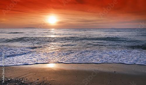 Sunrise on Corsica  coast - 199171500