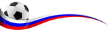 Fußball mit Russland Flagge Farben